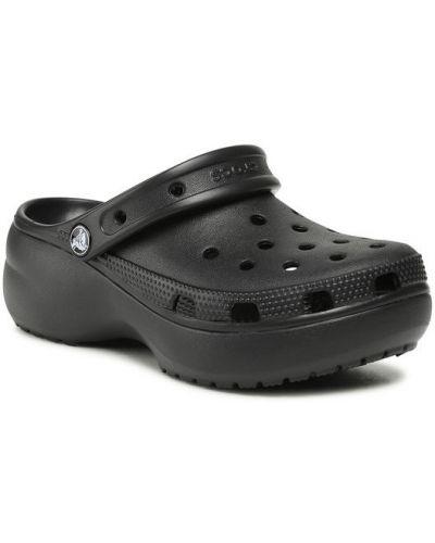 Klasyczne czarne crocsy na platformie Crocs