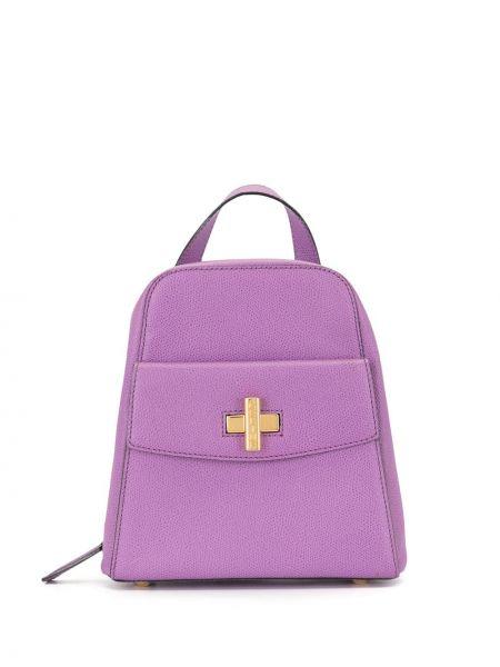 Фиолетовый рюкзак на бретелях с карманами на молнии Céline Pre-owned