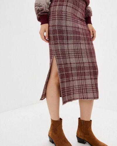 Бордовая прямая юбка карандаш Nataclub