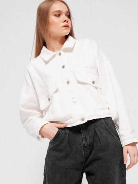 Джинсовая куртка весенняя белая Dorogobogato