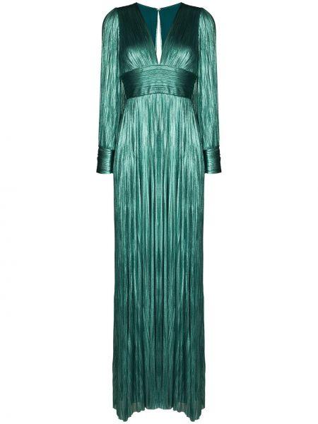 Шелковое вечернее платье - синее Maria Lucia Hohan