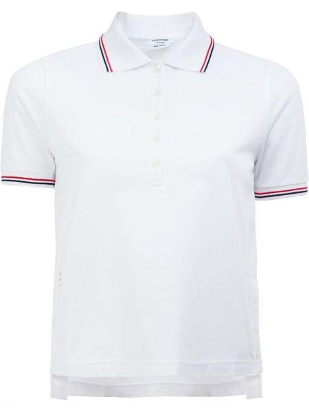 Biała klasyczna koszula krótki rękaw bawełniana Thom Browne