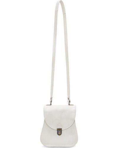 С ремешком бежевая маленькая сумка с жемчугом с тиснением Cherevichkiotvichki