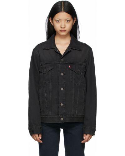 Джинсовая куртка длинная - черная Levi's®