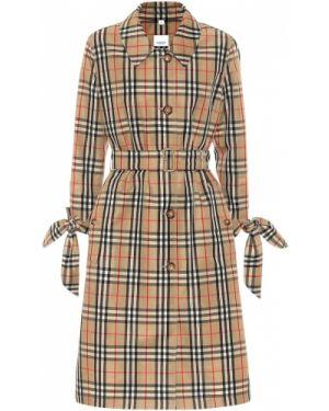 Бежевое пальто винтажное Burberry