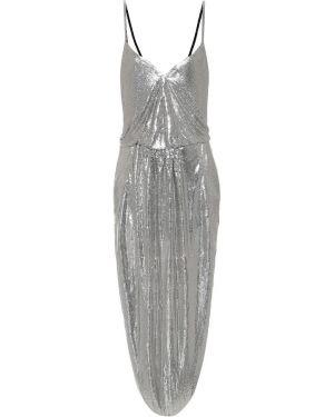 Платье с цепочкой серебряный Saint Laurent
