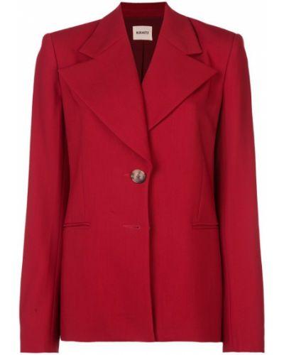 Прямой удлиненный пиджак на пуговицах Khaite