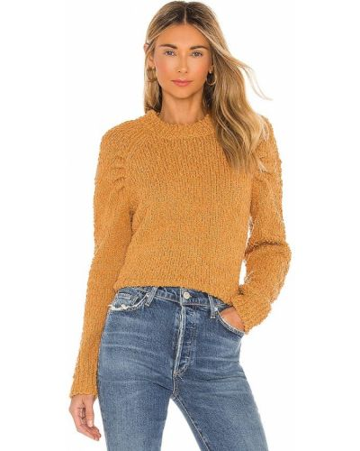 Норковый свитер в полоску с разрезом Minkpink
