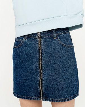 Синяя джинсовая юбка свободного кроя Befree