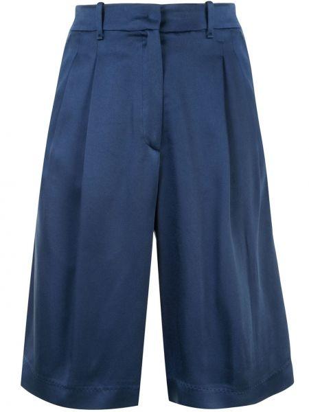 Синие с завышенной талией шорты с карманами Forte Forte