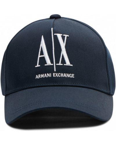 Niebieski kapelusz Armani Exchange