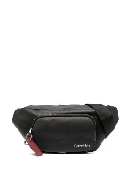 Поясная сумка с логотипом - черная Calvin Klein