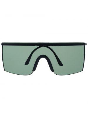 Массивные черные солнцезащитные очки металлические оверсайз Versace Pre-owned