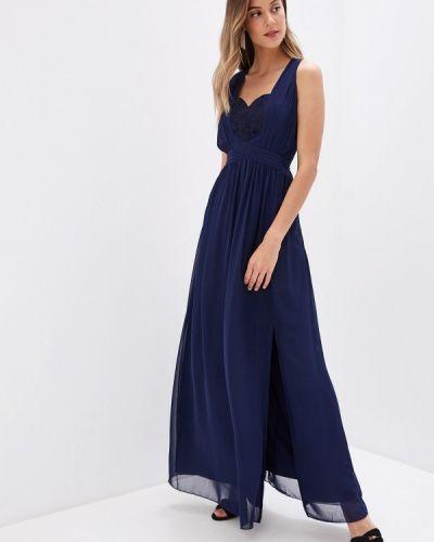 Вечернее платье осеннее синее Little Mistress