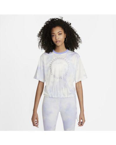 Fioletowy t-shirt z printem Nike