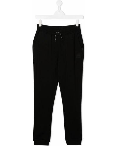 Bawełna czarny bawełna dres z mankietami Boss Kids