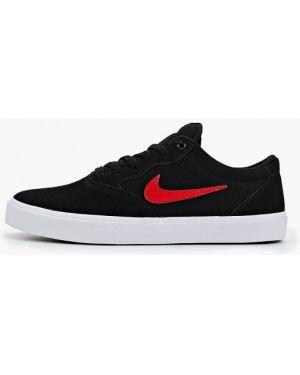 Низкие кеды черные текстильный Nike