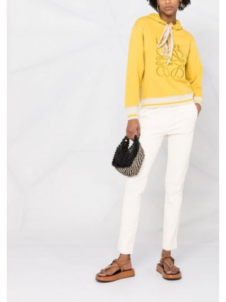 Белые кожаные брюки с поясом Arma