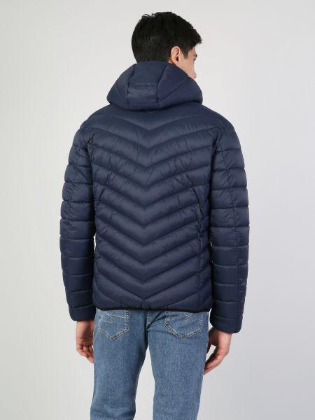 Синяя куртка с капюшоном на молнии Colin's