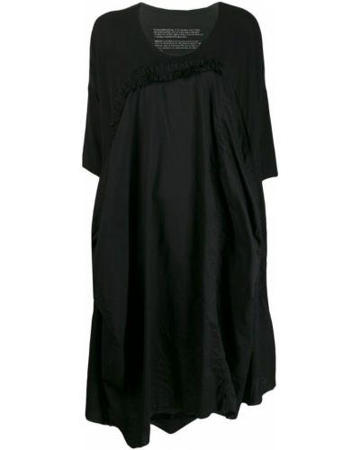 Черное свободное платье миди свободного кроя Rundholz Black Label