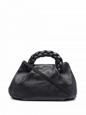 Czarna torba na ramię skórzana Hereu