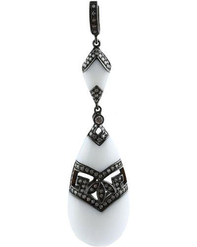 Серебряная подвеска белый Jewelry Box