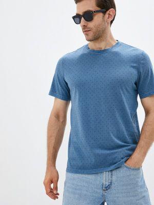 Синяя весенняя футболка Mustang