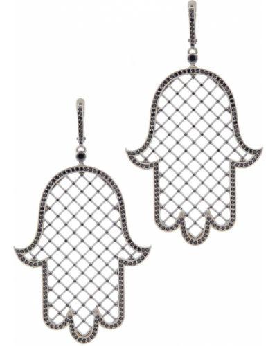 Серебряные серьги с агатом с топазом Axenoff Jewellery
