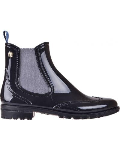 Ботинки осенние черные Trussardi Jeans