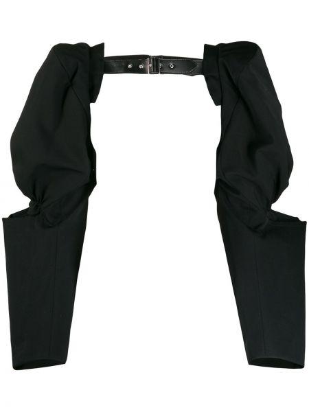 Czarny top z długimi rękawami wełniany Comme Des Garcons