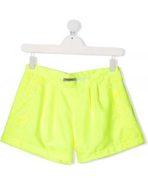 Желтые короткие шорты Ermanno Scervino Junior