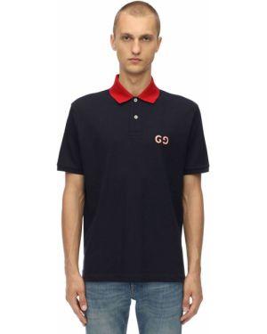 Koszulka polo z logo z haftem Gucci