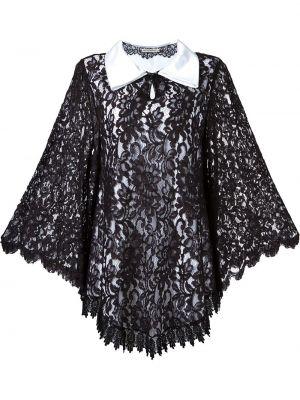 Классическое ажурное платье макси с воротником свободного кроя Martha Medeiros