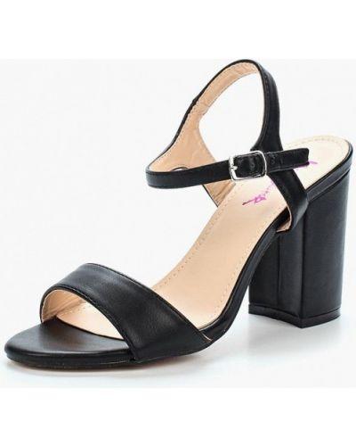 Черные босоножки на каблуке Vera Blum