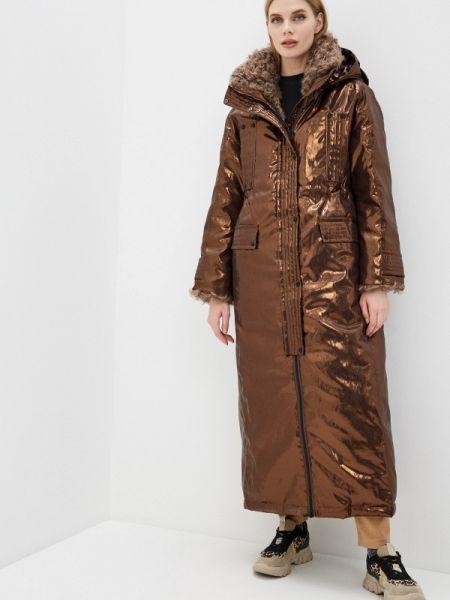 Зимняя куртка весенняя коричневая Naumi
