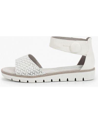 Белые кожаные сандалии Marco Tozzi