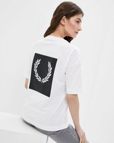 Белая футболка с короткими рукавами Fred Perry