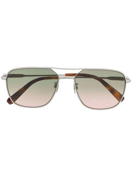 Серебряные солнцезащитные очки с завязками Brioni
