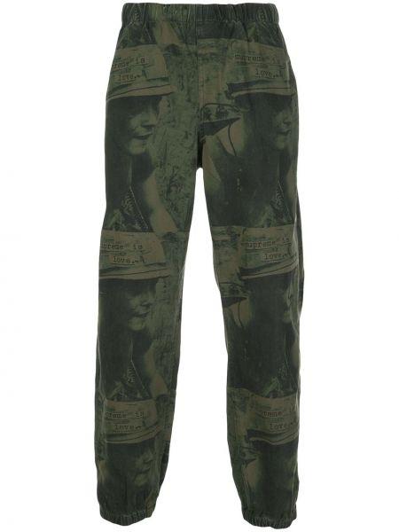 Bawełna bawełna zielony majtki z kieszeniami Supreme