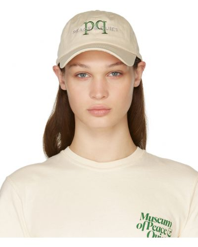 Beżowa czapka z daszkiem Museum Of Peace And Quiet