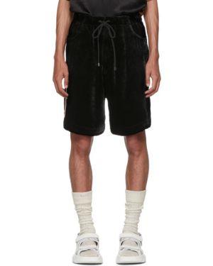 Короткие шорты черные на резинке Gucci