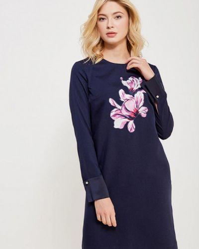 Синее платье прямое Zarina