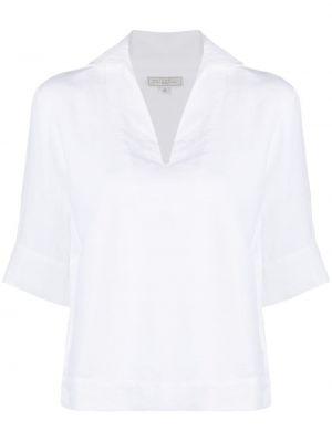 Белая блузка с короткими рукавами с вырезом Antonelli