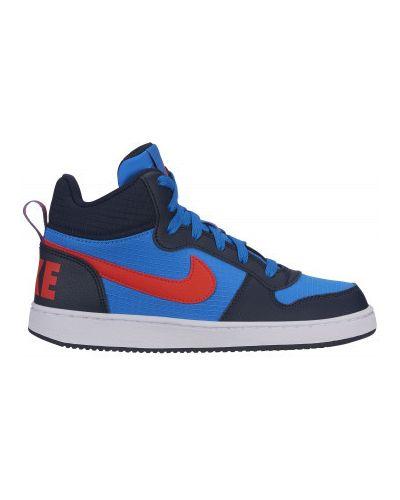 Синие кеды на шнуровке Nike