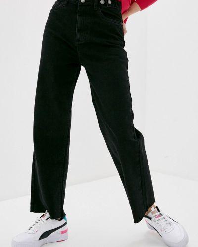 Черные широкие джинсы свободного кроя Sela