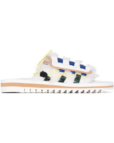 Włókienniczy biały sandały Suicoke