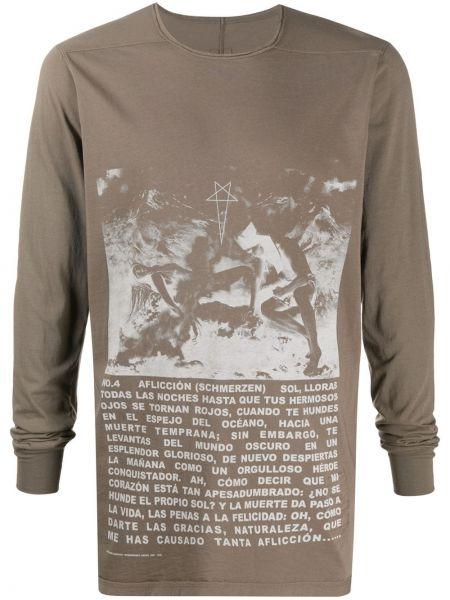 Koszula z długim rękawem prosto długa Rick Owens Drkshdw