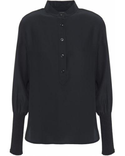 Czarna koszula z jedwabiu Rag & Bone