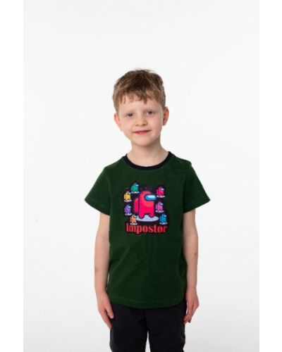 Хлопковая зеленая футболка Vidoli