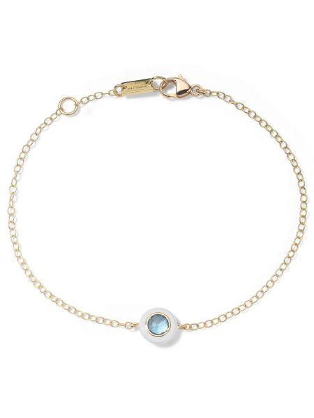 Niebieska ażurowa złota bransoletka łańcuch Ippolita
